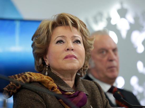 Матвиенко предложила на время прекратить экспорт леса