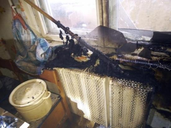 Пожар в квартире произошел в поселке Плеханово
