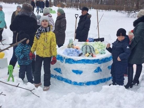 В Вязьме состоялся фестиваль снежной скульптуры