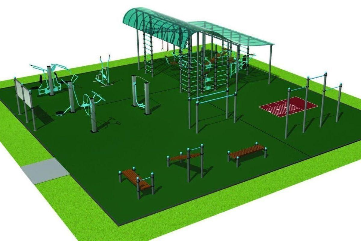 объемному картинки оборудования для спортивных площадок после нового