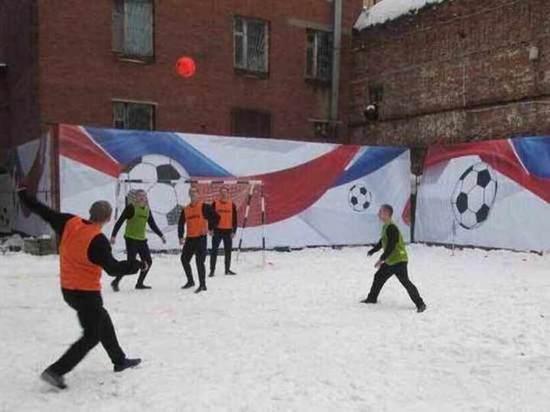 В Бутырке начался футбольный матч с Павлом Мамаевым
