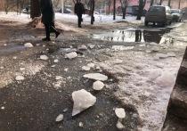 Огромная глыба льда чуть не убила жителей Твери