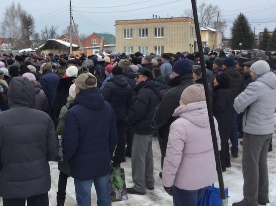В Узловой Тульской области начался митинг против «мусорной» реформы