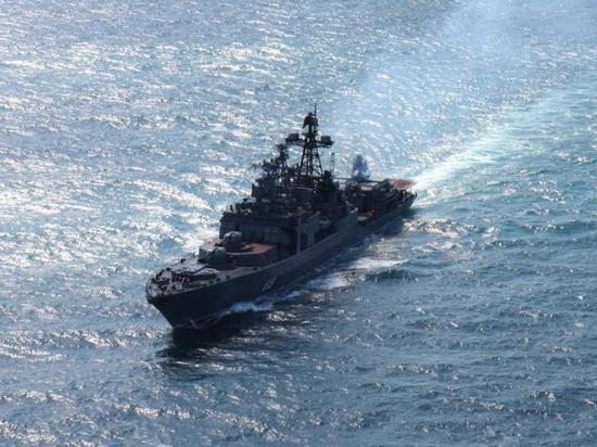Большой противолодочный корабль «Североморск» готовится к возвращению домой