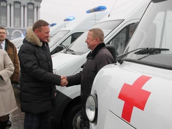 ВКурскую область поступили новые машины скорой помощи