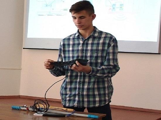 Барнаульский школьник изобрел умную трость для слепых