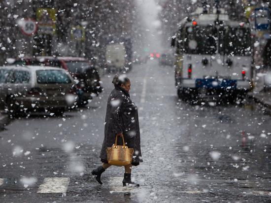 В Ульяновске ухудшается погода - мокрый снег и гололедица