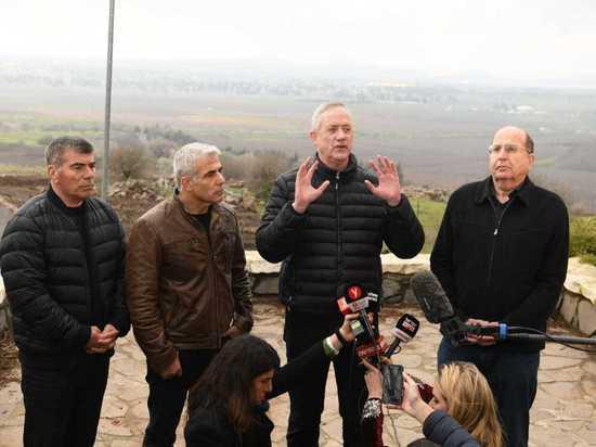 """Лидеры Кахоль Лаван: """"Наше будущее правительство никогда не вернет Голанские высоты"""""""