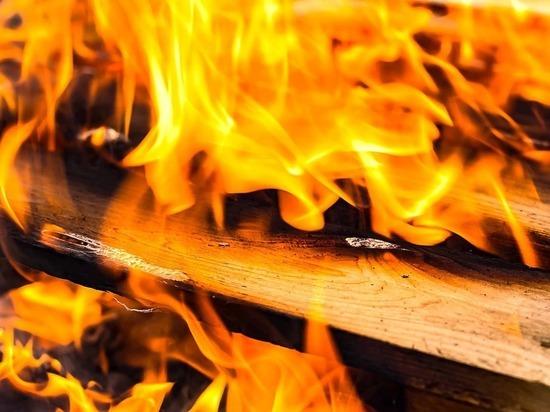 В Рославле Смоленской области дотла сгорел оздоровительный комплекс