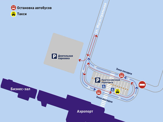 На территории аэропорта Новый Уренгой меняется схема движения