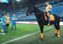 Аршавин въехал на стадион «Газпром-Арена» на кобыле