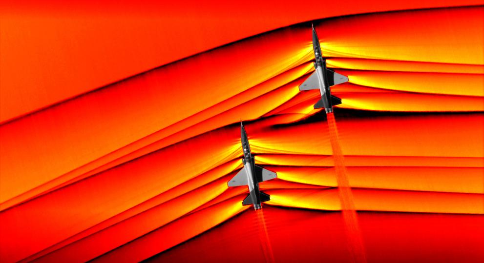 NASA показало первые фото сверхзвуковых ударных волн