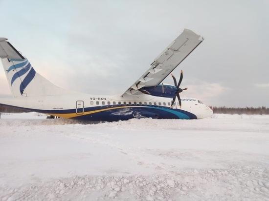 В Красноярском крае самолет выкатился за пределы взлётной полосы