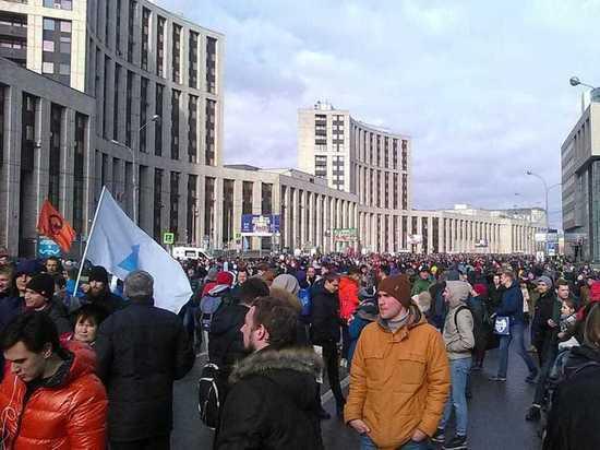 Участники московского митинга за свободный Интернет прошлись по Клишасу