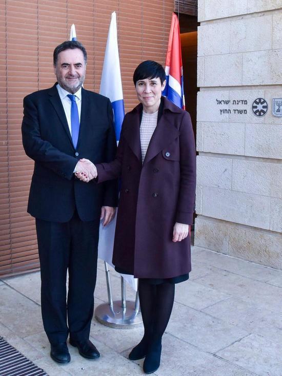 Министры иностранных дел Израиля и Норвегии обсудили в Иерусалиме актуальные проблемы