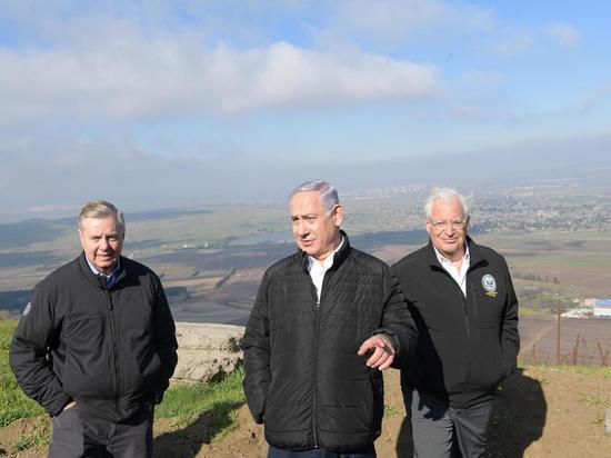 Биньямин Нетаниягу и сенатор Линдси Грэм посетили Голанские высоты