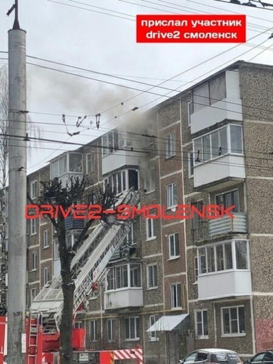 На Румянцева в Смоленске горела квартира, спасены женщина и кот