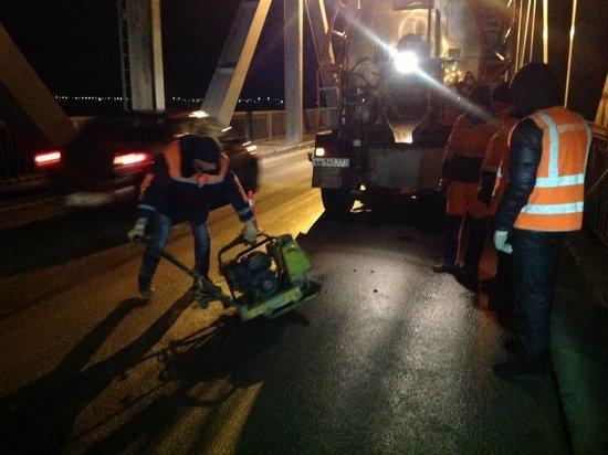 Половину Императорского моста отремонтировали в Ульяновске ночью