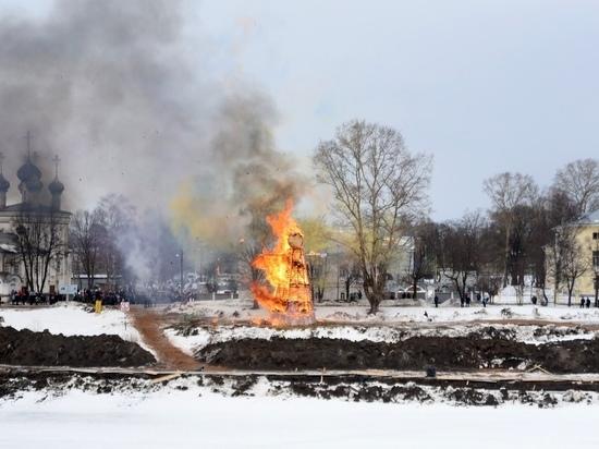 Сожжение чучела, игры, блин-ринг: вологжане встретили весну