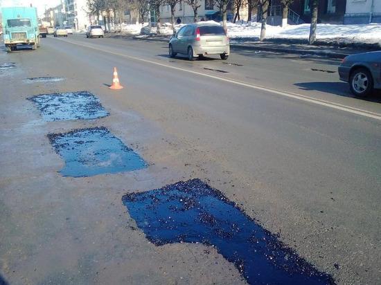 С начала года на чебоксарских дорогах установлено 916 кв.м «заплаток»
