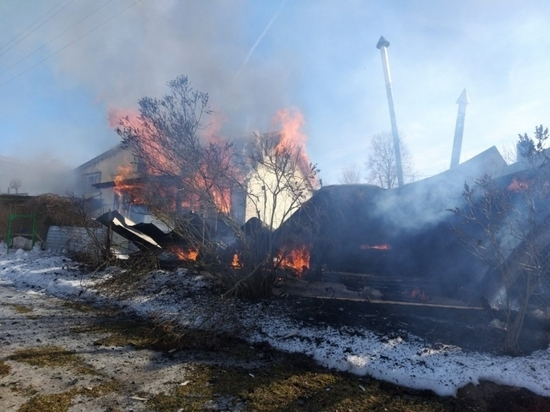 Все постройки сгорели на участке под Тарусой