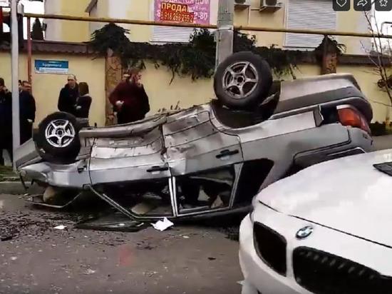 На Седина в ДТП перевернулась машина