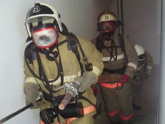 Под Зеленоградском при пожаре пострадал человек