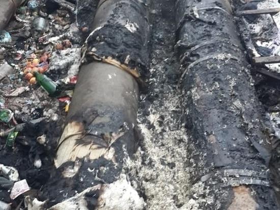 При пожаре на теплотрассе в Ясногорске пострадал человек