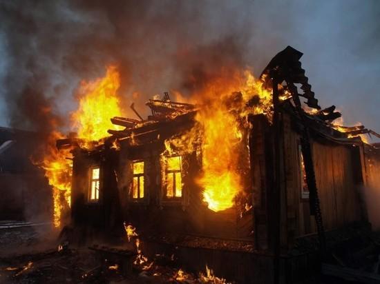 В Курской области женщина не успела выбраться из горящего дома