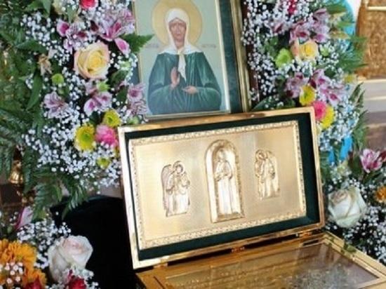 Частицу мощей святой Матроны привезли в Дивеево