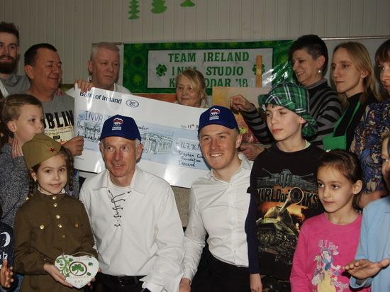 Ирландские волонтёры посетили краснодарскую студию для детей с ограниченными возможностями
