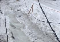 Ребенка, пострадавшего от падения глыба льда в центре Рязани, отпустили домой