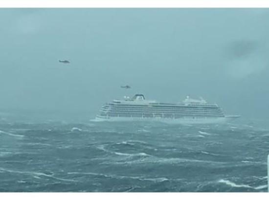 Опубликовано видео с терпящего бедствие лайнера близ Норвегии