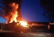 Пилорама горела в Киренском районе