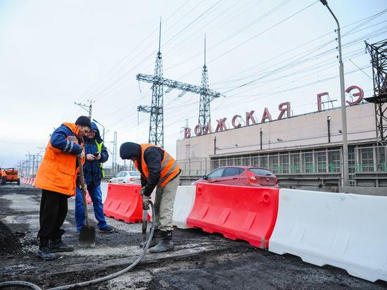 Движение на мосту через Волжскую ГЭС сузили из-за ремонта