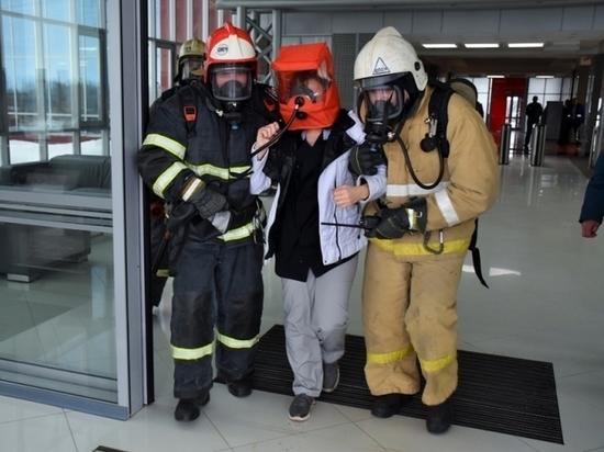 В Саранске пожарные устроили учения в «Технопарке»
