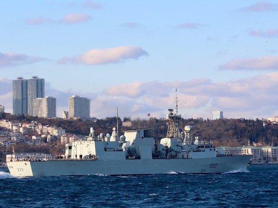 Обнародованы фото захода кораблей НАТО в Черное море