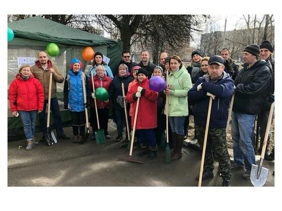 Жители территориальных отделов Серпухова вышли наводить порядок