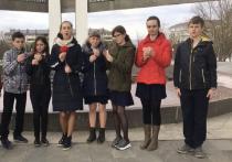 Школьники Кавминвод привезли частичку Вечного огня в Железноводск