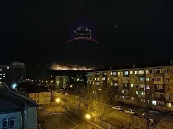 На правобережье Красноярска горела Лысая гора
