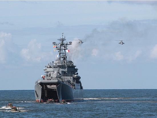 В Калининградской области прошли масштабные учения по высадке морского десанта