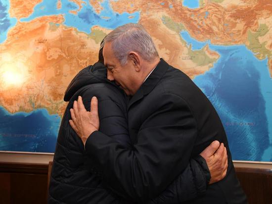 Премьер-министр Биньямин Нетаниягу встретился с родственниками Захарии Баумеля