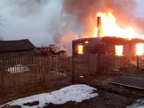 Человек пострадал на пожаре дома в Ферзиково