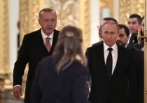 Путин и Эрдоган поспорили из-за цены на газ
