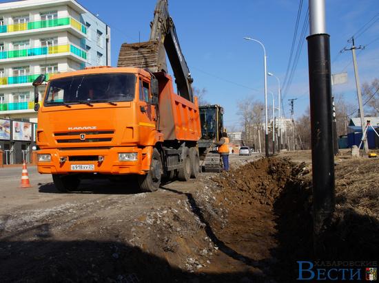 В Хабаровске возобновилась реконструкция Выборгской