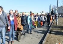 7 апреля в Екатеринбурге граждане, недовольные планами строительства храма святой Екатерины, устроили акцию протеста