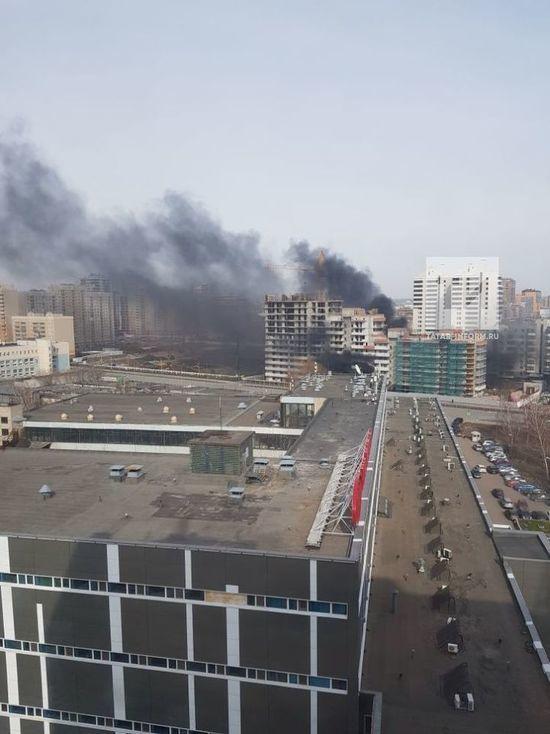 Пожар у «Чаши» в Казани попал на видео