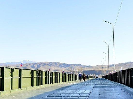 В Туве на 10 дней прекратится движение по военному мосту из-за интенсивного ледохода