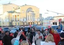 Митинг-субботник ярославских коммунистов у Волковского театра состоялся