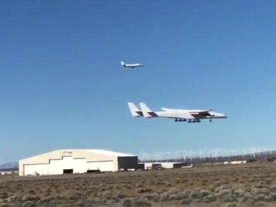 Опубликовано видео первого полета самого большого самолета